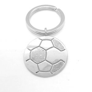 Llavero balón de fútbol elisa diseño en plata