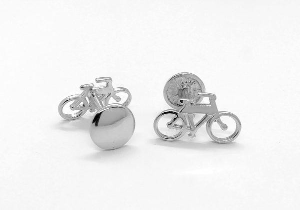 gemelos bicicleta diferente posición elisa diseño en plata
